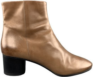 Isabel Marant Gold Leather Ankle boots