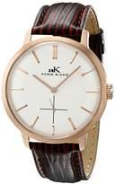 Adee Kaye Men's AK2225-MRG/SV Classique Analog Display Japanese Quartz Brown Watch