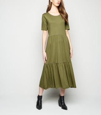 New Look JDY Tiered Smock Midi Dress