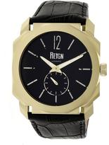 Reign Maximus REIRN4104 Men's Gold and Black Leather Automatic Watch