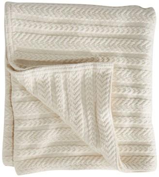 L.L. Bean L.L.Bean Cotton Cable Sweater Throw
