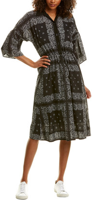 James Perse Relaxed Printed Shirtdress
