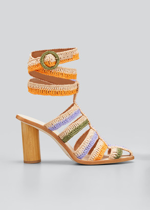 Ulla Johnson Katya Cage Ankle-Wrap Sandals