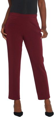 Susan Graver Petite Milano Knit Pull-On Pants with Pockets