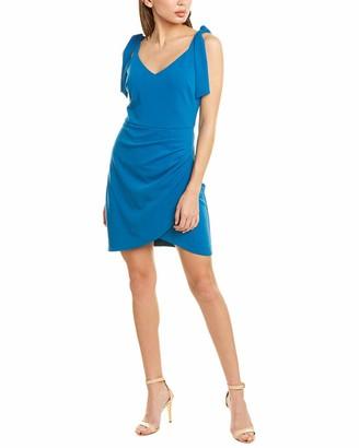 Betsey Johnson Women's Tie Sleeve Ruched Mini Dress