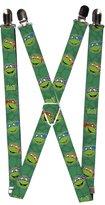 Buckle Down TMNT Cartoon TV Series Turtle Heads Suspenders