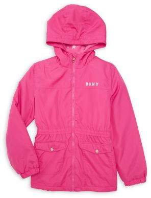 DKNY Girl's Hooded Midweight Jacket