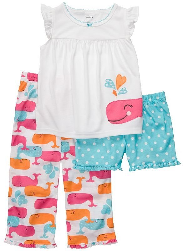 Carter's whale pajama set - girls