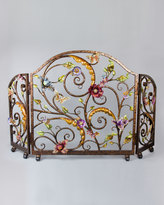 Jay Strongwater Vincente Fireplace Screen