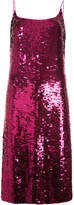 Oscar de la Renta sequin cocktail dress