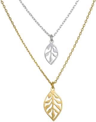 Lauren Conrad Multi-Tone Leaf Design Necklaces
