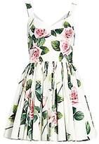 Dolce & Gabbana Women's Rose Print Bustier Fit-&-Flare Dress