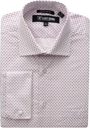 Stacy Adams Men's Big-Tall Mini Print Dress Shirt