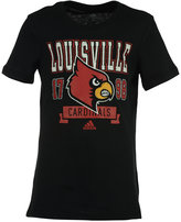 adidas Girls' Louisville Cardinals Banner Scribble T-Shirt