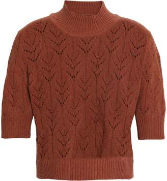 Markus Lupfer Pointelle-knit Merino Wool Sweater