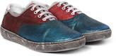 Marc Jacobs - Distressed Metallic Suede Sneakers
