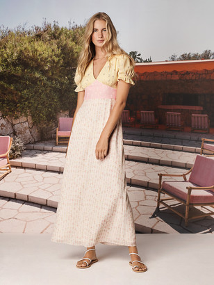 Diane von Furstenberg TVF Sundae Crepe de Chine Maxi Dress