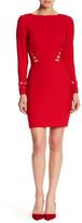 Nicole Miller Long Sleeve Loop Dress