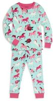 Hatley Toddler's, Little Girl's & Girl's Two-Piece Pony Printed Tee & Pants Pajama Set