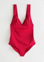 And other stories V-Cut Ruched Swimsuit