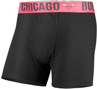 Men's Concepts Sport Black Chicago Bulls Boxer Brief with Sublimated Waistband
