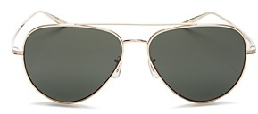 Oliver Peoples x The Row Women's Casse Polarized Brow Bar Aviator Sunglasses, 58mm