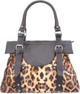 Faux Fur Leopard Satchel