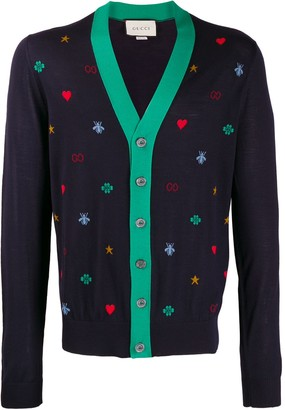 Gucci All-Over-Symbols Cardigan