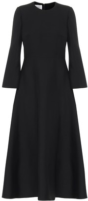 Valentino Wool and silk midi dress
