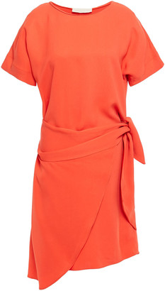 Vanessa Bruno Lenora Wrap-effect Crepe Mini Dress
