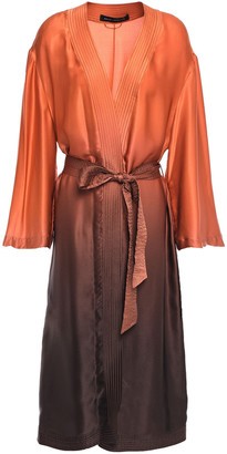 Sally LaPointe Belted Degrade Silk-satin Robe