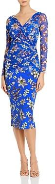 Chiara Boni Shana Floral Illusion Print Midi Dress - 100% Exclusive