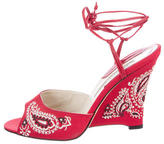 Brian Atwood Desiree Paisley Sandals