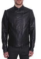Diesel Black Gold Leather Jacket
