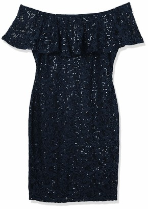 Marina Women's Off Shoulder Sequin Lace Dress