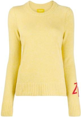 Zadig & Voltaire Initials-Embroidered Cashmere Jumper