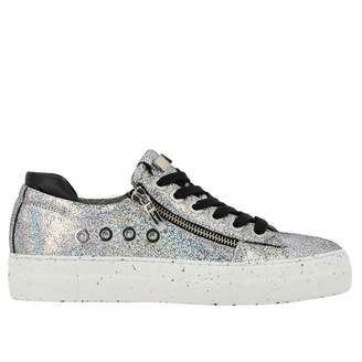 Paciotti 4Us Sneakers Ramones Sneakers In Glitter Leather With Macro Zip And Logo