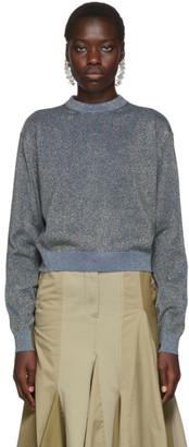 Lanvin Blue Lurex Sweatshirt