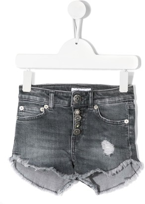 Dondup Kids Ripped Effect Denim Shorts