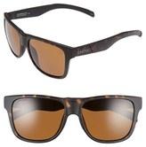 Smith Optics Women's 'Lowdown Xl' 58Mm Polarized Sunglasses - Matte Black/ Polarized Green