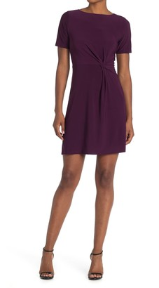 Tash + Sophie Short Sleeve Side Twist Dress