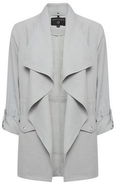 Dorothy Perkins Womens Grey Drawcord Waterfall Jacket, Grey