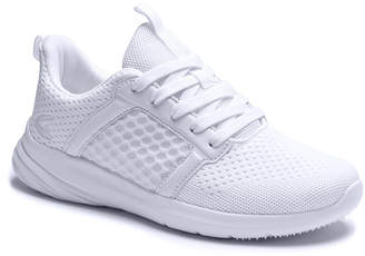 Dream Seek Women's Sneakers WHITE - White Honeycomb Mesh Sneaker - Women