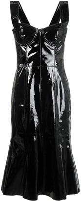 Natasha Zinko corset patent leather midi dress