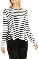 Vince Camuto Reverse Back Stripe Sweater
