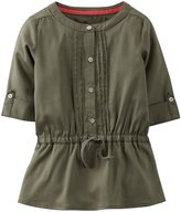 Carter's Woven Tunic (Baby) - Olive-6 Months
