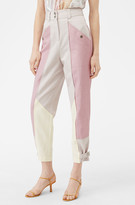 Rebecca Taylor Color Block Twill Pant