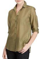 Lauren Ralph Lauren Voile Button-Down Shirt