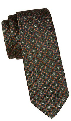 Salvatore Ferragamo Geometric Printed Silk Tie
