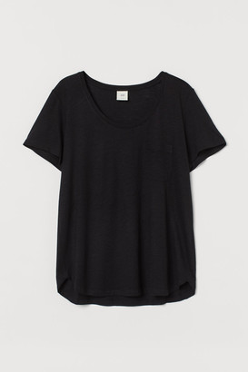 H&M Low-cut T-shirt - Black